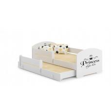 Pat Pentru Copii Marja Dublu Cu Bariere De Protectie Si Saltele 140x70/125x80 Cm Model 12