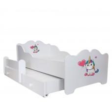 Pat Pentru Copii Tindra Dublu Cu Saltele 160x80/145x80 Cm Model 01