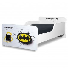 Pat copii  Batman 2-8 ani cu saltea cadou