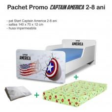 Pachet promo Pat copii  Captain America 2-8 ani