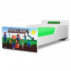 Pat copii  Minecraft 2-12 ani cu saltea cadou