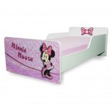 Pat copii  Minnie 2-8 ani cu saltea cadou