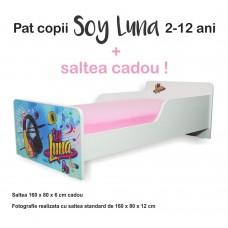 Pat copii Soy Luna 2-12 ani cu saltea cadou