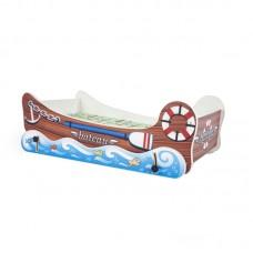 Pat pentru copii barca cu funcite de balans Fin 3702 PAL 150x79x52 cm Multicolor