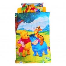 Lenjerie pat copii 3 piese - Winnie 2-12 ani