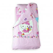 Lenjerie pat copii Hello Kitty 2-8 ani