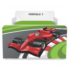 Pat copii Formula 1 2-12 ani cu saltea cadou