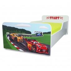Pat copii  Racing 2-12 ani cu saltea cadou