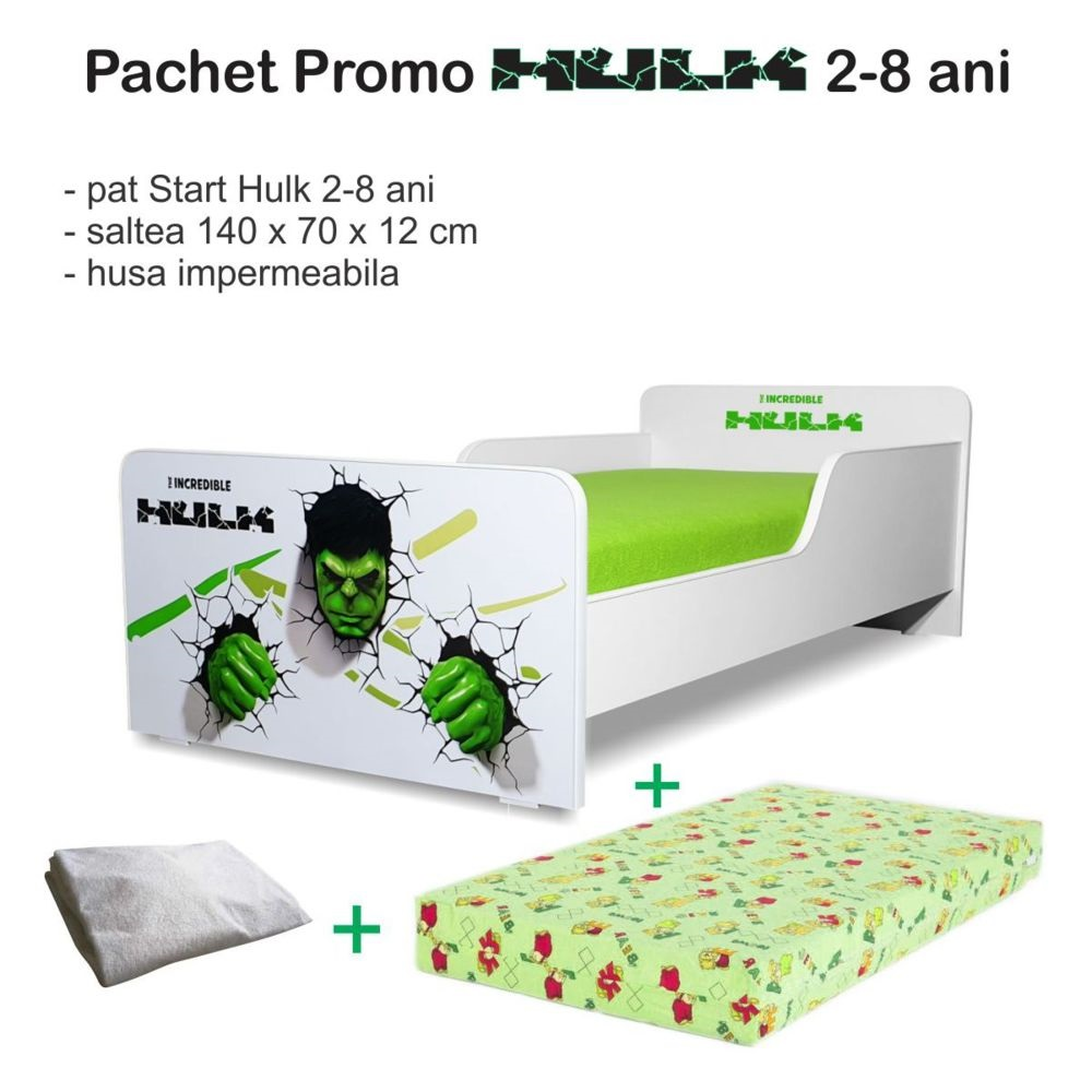 Pachet promo Pat copii Hulk 2-8 ani
