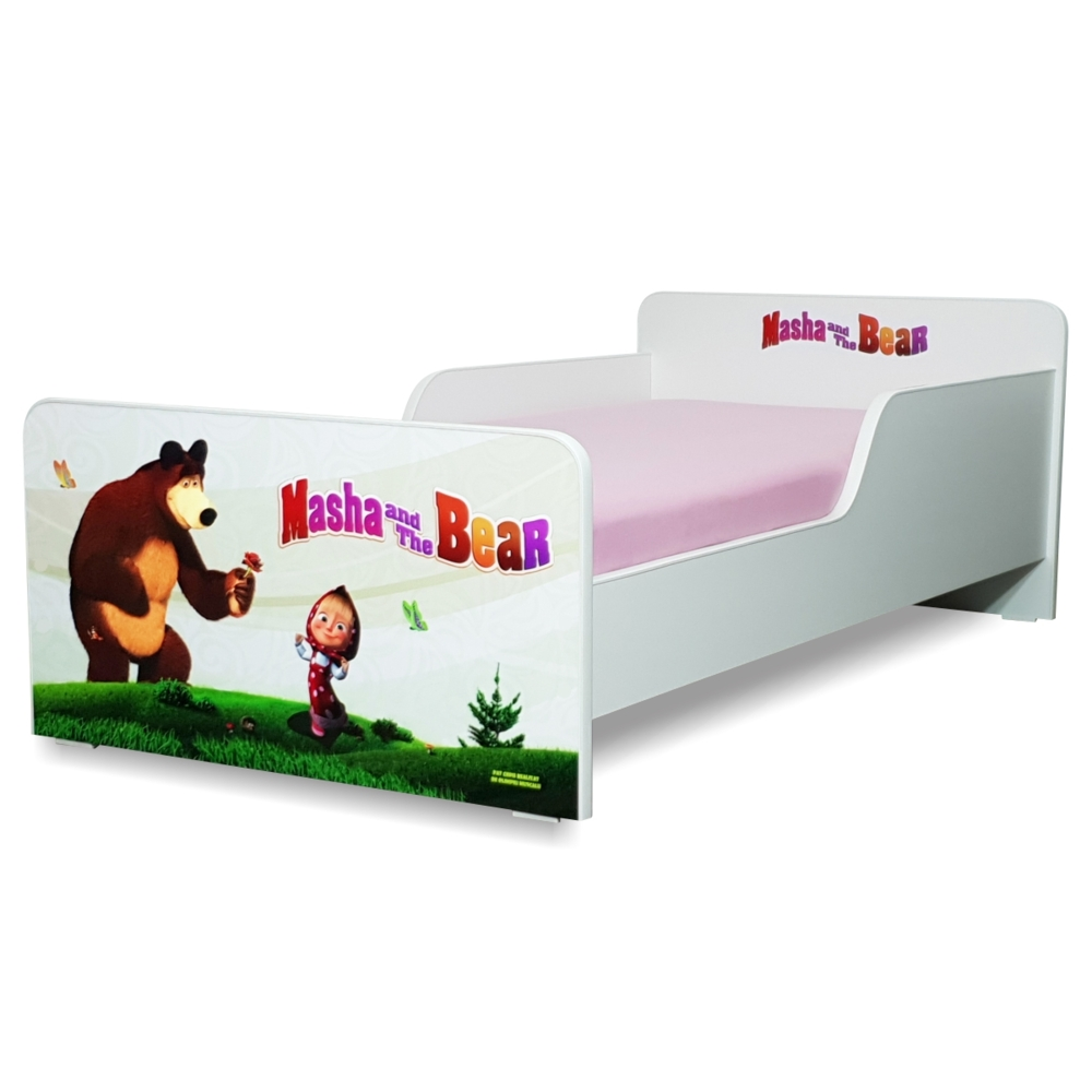 Pat copii Masha 2-8 ani cu saltea cadou