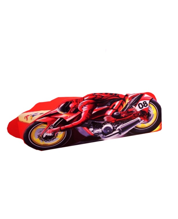 Pat copii Motocyborg 140x70 Cm cu saltea