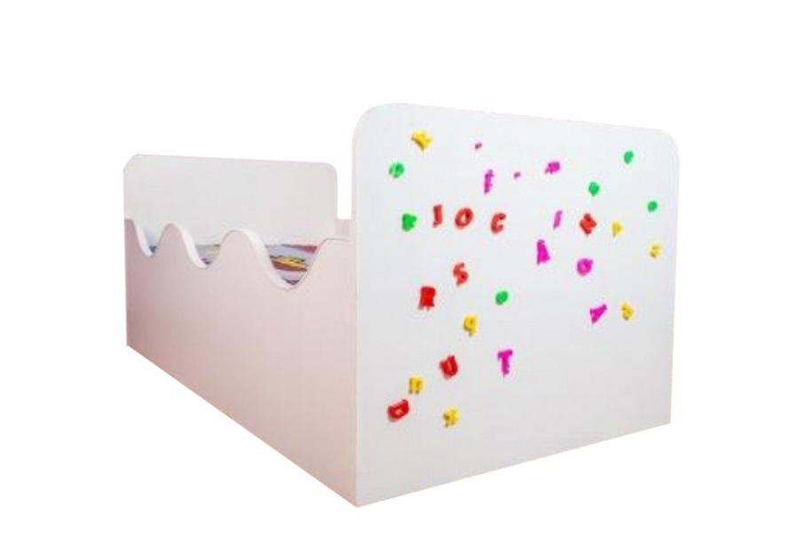 Pat copii Puzzle 140x70 Cm cu saltea