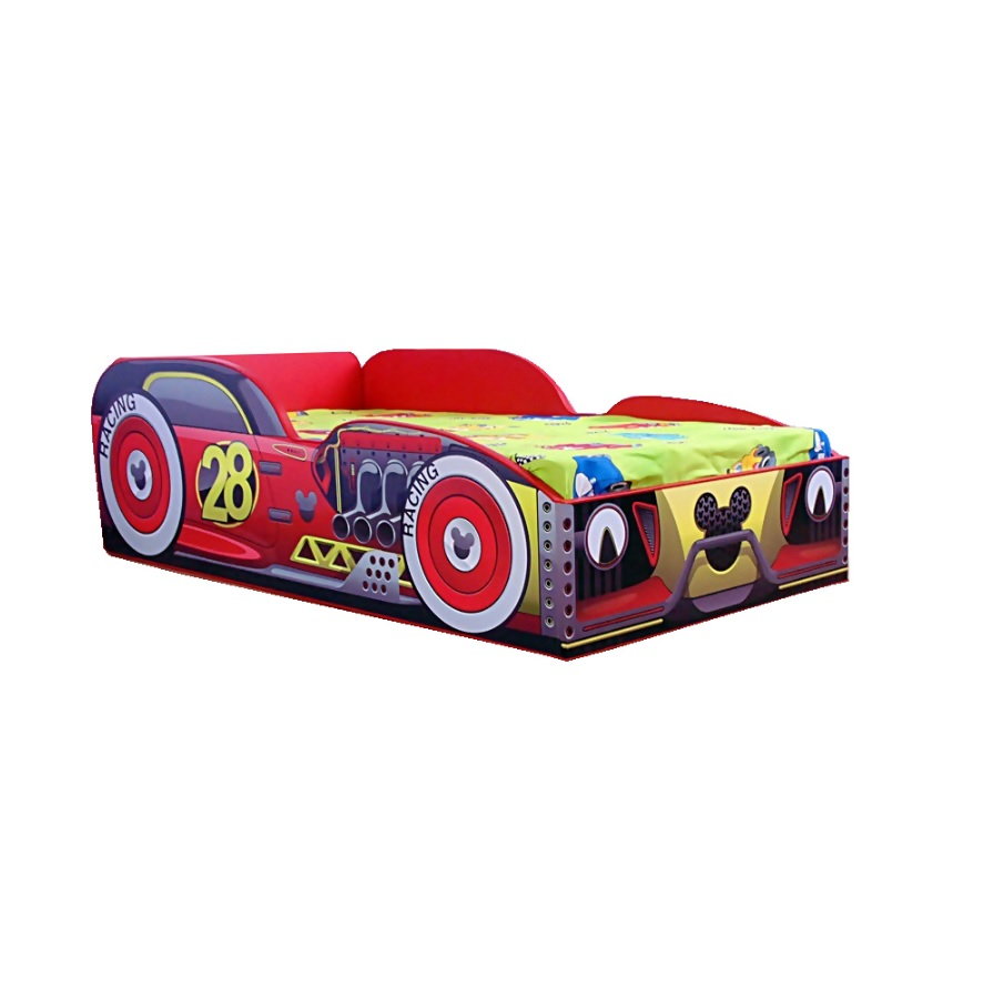 Pat masina copii Mickey 140x70 Cm cu saltea