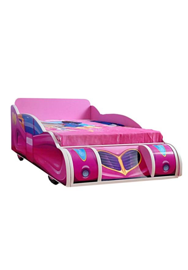 Pat copii Minnie Mouse Pink 140x70 Cm cu saltea
