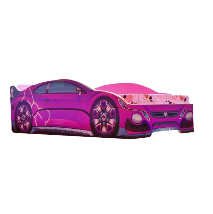Pat copii Pink Princess 140x70 Cm cu saltea