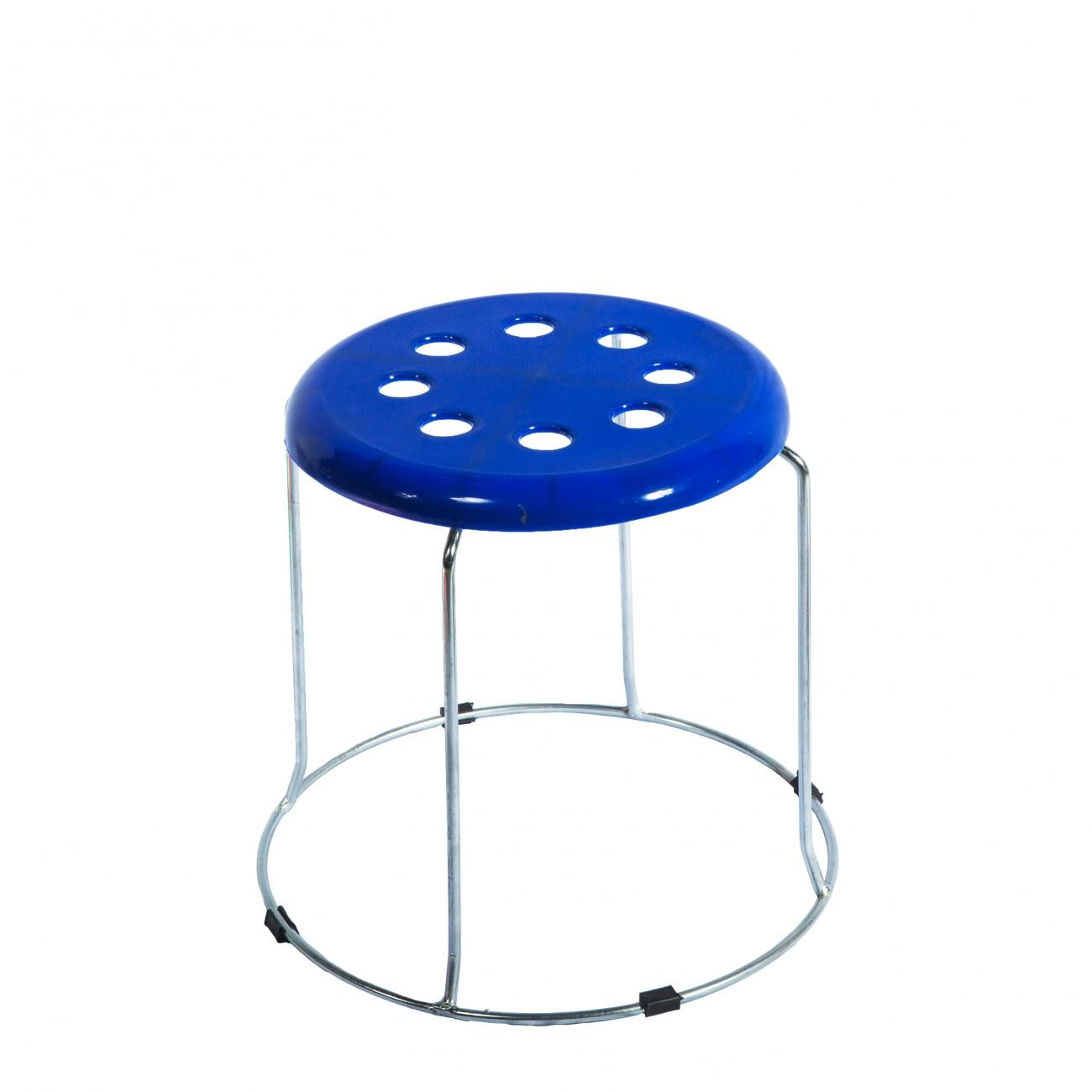 Taburet Fin 3518 PVC Albastru
